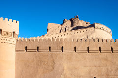 Fortification walls of ancient citadel of Bam Stock Photos