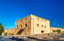 Fortification walls at Bab Belkari in Meknes, Morocco. Fortification walls at Bab Belkari in Meknes - Morocco stock photo