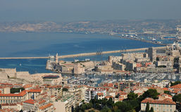 Fortification walls of Marseille Stock Photos