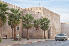 Fortification walls in Meknes. Fortification walls in Meknes, Morocco Royalty Free Stock Photography