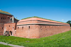 Fortification of Zamosc. Old military system of fortification in Zamosc city stock photo