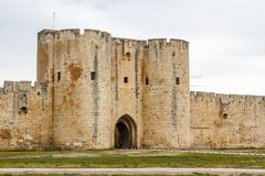 Fortifications of Aigues-Mortes town. France Royalty Free Stock Image