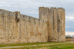 Fortifications of Aigues-Mortes town. France Royalty Free Stock Photography