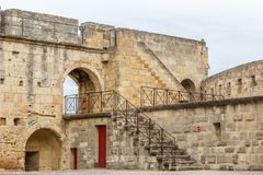Fortifications of Aigues-Mortes town. France Royalty Free Stock Photo