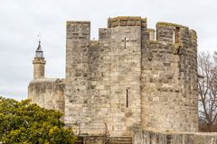 Fortifications of Aigues-Mortes town. France Stock Photo