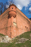 Fortifications of ancient Wawel Royal Castle Stock Image