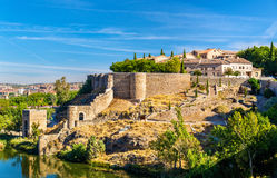 Fortifications around the medieval town Toledo in Spain Royalty Free Stock Photos