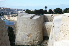Fortifications around Valletta Royalty Free Stock Photo