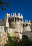 Fortifications and battlements of the medieval city, Rhodes Stock Photography