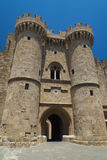 Fortifications and battlements of the medieval city, Rhodes Stock Photo