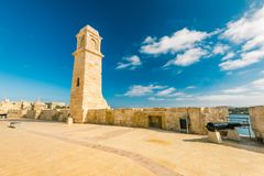 Fortifications in Birgu, Malta.  Stock Images