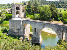 Fortifications and bridge, built in the 12th century Royalty Free Stock Photos