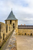 Fortifications of Carcassonne - France Royalty Free Stock Photography