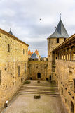 Fortifications of Carcassonne - France Royalty Free Stock Images