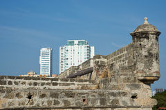 Fortifications of Cartagena Royalty Free Stock Photo