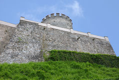 The fortifications of the castle Cesky Sternberk, Czech republic Royalty Free Stock Images
