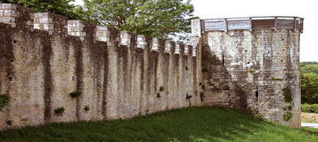 Fortifications of a castle Stock Photo
