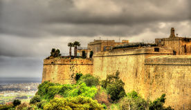 Fortifications of the city of Mdina Stock Photos