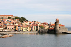 Fortifications de Collioure Image stock