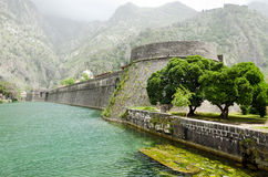 Fortifications de Kotor Images libres de droits