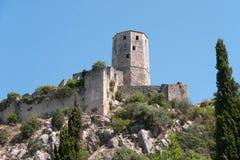 Fortifications de Po?itelj, Bosnie-Herzégovine Photo libre de droits