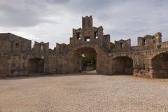 Fortifications de Rhodes Photo libre de droits
