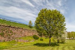 Fortifications de Vyborg image libre de droits