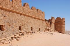 Fortifications, deserto de Sahara, Líbia Fotografia de Stock