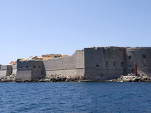 The fortifications in Dubovnic Croatia Royalty Free Stock Photo