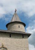Fortifications et tour de visionnement Image stock