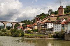 Fortifications of Fribourg Stock Photos