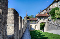 Fortifications in Gruyeres Stock Photography