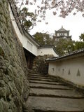 Fortifications, Himeji Castle, Japan. Himeji-jo, Japan's best preserved castle and a World Heritage Site Stock Photos