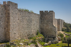 Fortifications of Jerusalem, Israel. The Walls of Jerusalem surround the old city of Jerusalem (approx. 1 km²). The walls were built between 1535 and 1538, when Royalty Free Stock Photography