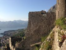 The fortifications of Kotor Stock Image