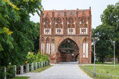 Fortifications médiévales dans Neubrandenbourg Photos libres de droits