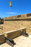 Fortifications of Malta - Three Cities. Old fortifications in the historic Città Vittoriosa, medieval base of the Order of Saint John and main city of Malta Royalty Free Stock Photos