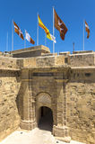 Fortifications of Malta - Three Cities. Old fortifications in the historic Città Vittoriosa, medieval base of the Order of Saint John and main city of Malta Stock Photos