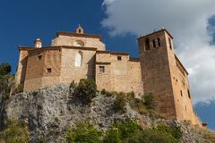 Fortifications of medieval monastery in Alquezar. Spain Royalty Free Stock Photography