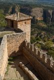 Fortifications of medieval monastery in Alquezar. Spain Stock Image