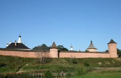 Fortifications of monastery in Suzdal Stock Image