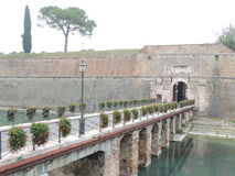 Fortifications of Peschiera on Garda Lake Stock Images