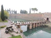 Fortifications of Peschiera on Garda Lake Royalty Free Stock Image