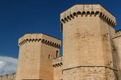 Fortifications of Poblet Monastery Royalty Free Stock Photography