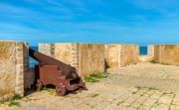 Fortifications of the Portuguese City of Mazagan in El-Jadidia, Morocco Royalty Free Stock Images