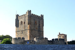 Fortifications of Portuguese town of Braganca Royalty Free Stock Images