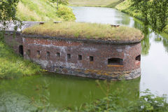 Fortifications from red brick Stock Image