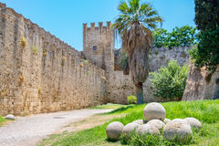 Fortifications of Rhodes. Greece Stock Photo