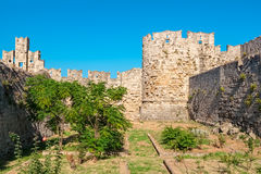 Fortifications of Rhodes. Greece Stock Photography