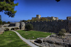 The fortifications of Rhodes Royalty Free Stock Photography